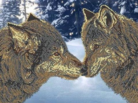 """Вышивка бисером """"Поцелуй"""" (400х300 мм) — фото, картинка"""