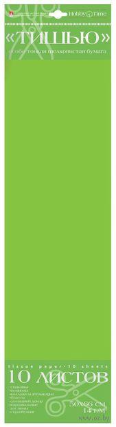 Бумага тишью (50x66 см; ярко-зеленая; 10 шт.) — фото, картинка