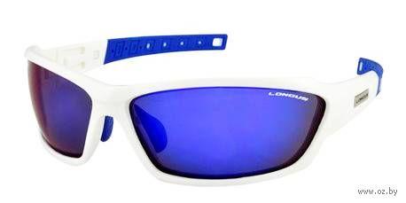 """Очки солнцезащитные """"Wind FF"""" (бело-синие; арт. 392075) — фото, картинка"""