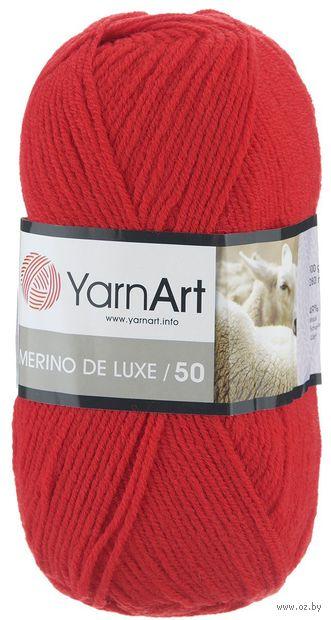 "Пряжа ""YarnArt. Merino de Luxe №156"" (100 г; 280 м; алый) — фото, картинка"