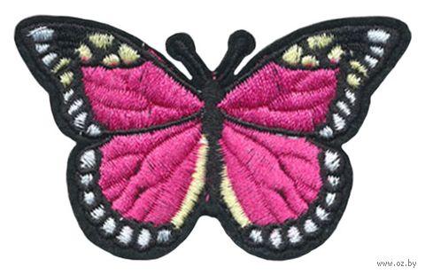 "Термоаппликация ""Бабочка чёрно-малиновая"" — фото, картинка"