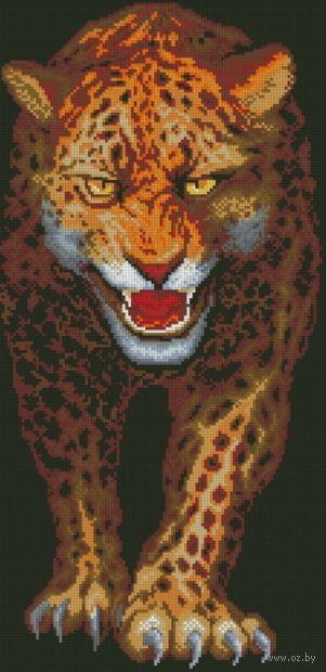 "Алмазная вышивка-мозаика ""Ягуар"" (290х590 мм) — фото, картинка"