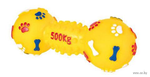 """Игрушка для собак с пищалкой """"Гантель"""" (19 см) — фото, картинка"""