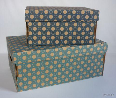 Набор коробок (2 шт.; темно-синяя и голубая) — фото, картинка