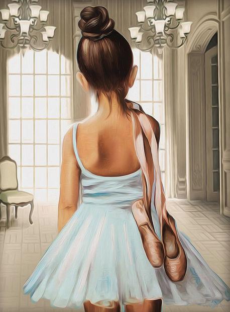 "Алмазная вышивка-мозаика ""Юная балерина"" (300х400 мм) — фото, картинка"
