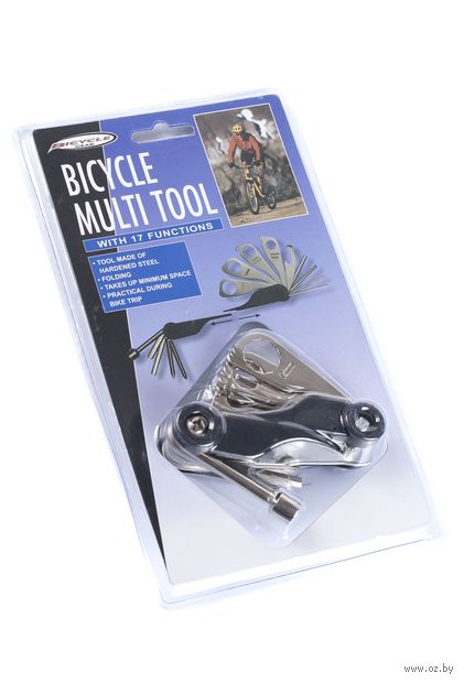 Инструмент многофункциональный для велосипеда (17 функций) — фото, картинка