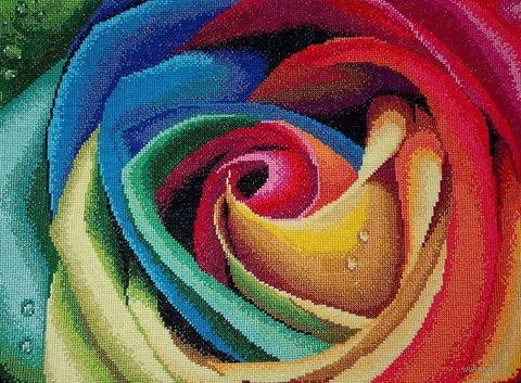 """Вышивка крестом """"Цветные лепестки"""" (305x400 мм) — фото, картинка"""