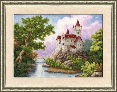 """Вышивка крестом """"Замок"""" (358х262 мм) — фото, картинка"""