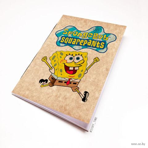 """Блокнот крафт """"Sponge Bob"""" А5 (090)"""