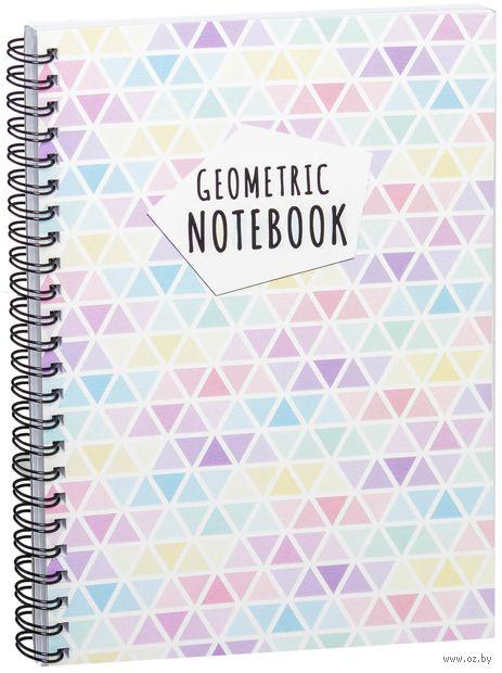 """Блокнот в клетку """"Geometric notebook"""" (A5; арт. 1379)"""