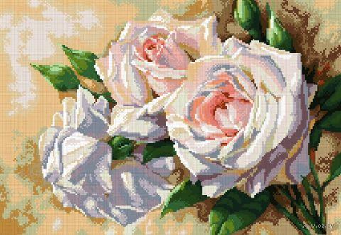 """Алмазная вышивка-мозаика """"Античные розы"""" (520x360 мм) — фото, картинка"""
