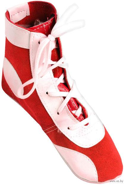 Обувь для самбо П (р. 46; замша; красная) — фото, картинка