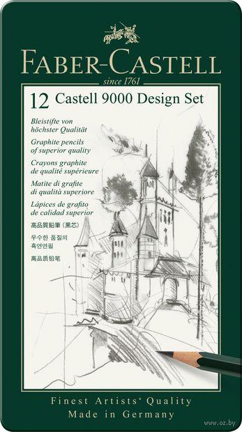 """Набор карандашей чернографитных """"Faber Castel"""" (4B-6H; металлическая коробка)"""