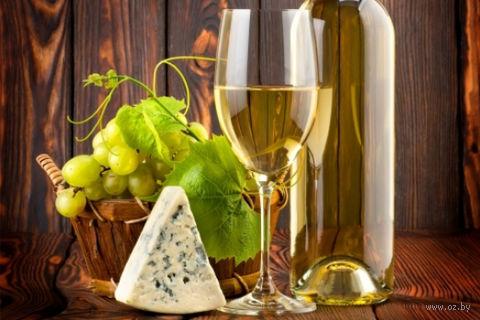 """Алмазная вышивка-мозаика """"Сыр и вино"""""""