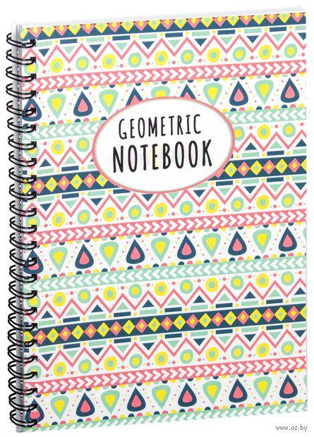 "Блокнот в клетку ""Geometric notebook"" A5 (1380)"