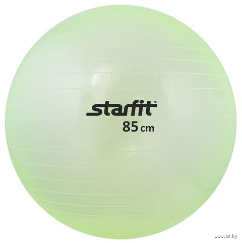 Мяч гимнастический GB-105 (85 см; прозрачно-зелёный) — фото, картинка