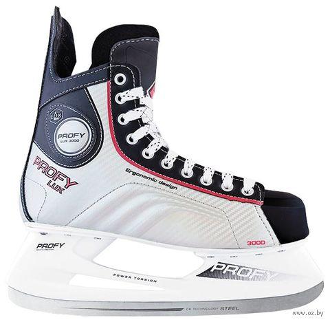 """Коньки хоккейные """"Profy Lux 3000"""" (р. 37; красные) — фото, картинка"""