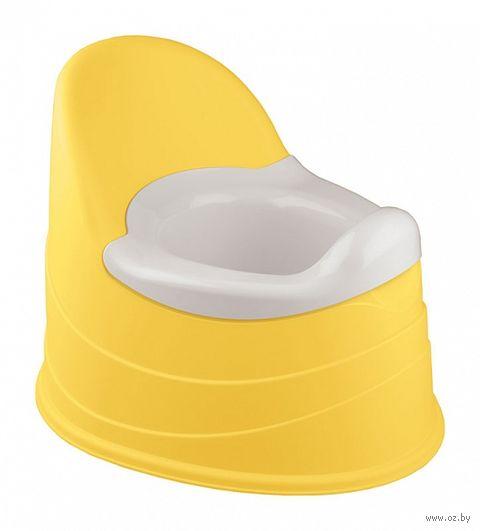 Горшок пластмассовый детский (390x310x305 мм; желтый) — фото, картинка