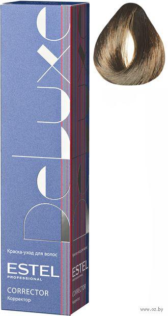 """Краска-уход для волос """"De Luxe. Correct"""" тон: 0/77, коричневый — фото, картинка"""