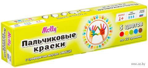 """Краски пальчиковые """"Овощи"""" (5 цветов) — фото, картинка"""