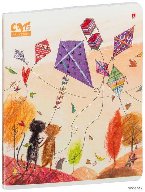 """Тетрадь полуобщая в клетку """"Праздник. Кошки"""" (48 листов; в ассортименте) — фото, картинка"""