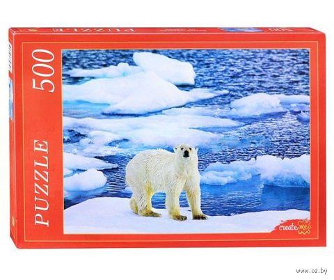 """Пазл """"Белый медведь на льду"""" (500 элементов) — фото, картинка"""