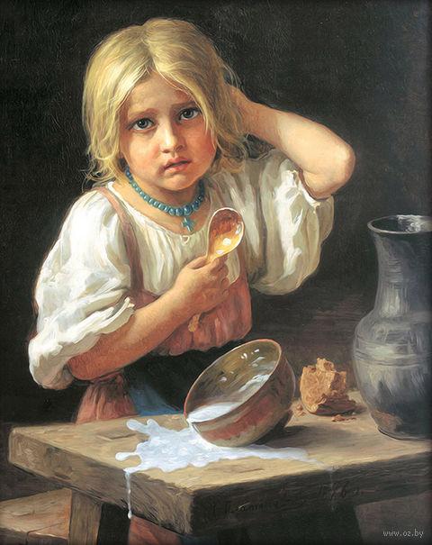 "Алмазная вышивка-мозаика ""Молоко пролила"" (400х500 мм) — фото, картинка"
