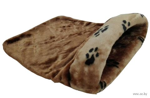 Лежанка-мешочек для кошек (45х65х25 см; коричневая) — фото, картинка