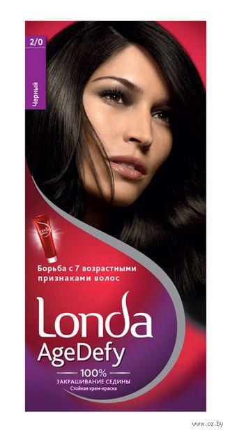 """Крем-краска для волос """"Londa AgeDefy"""" тон: 2/0, черный — фото, картинка"""