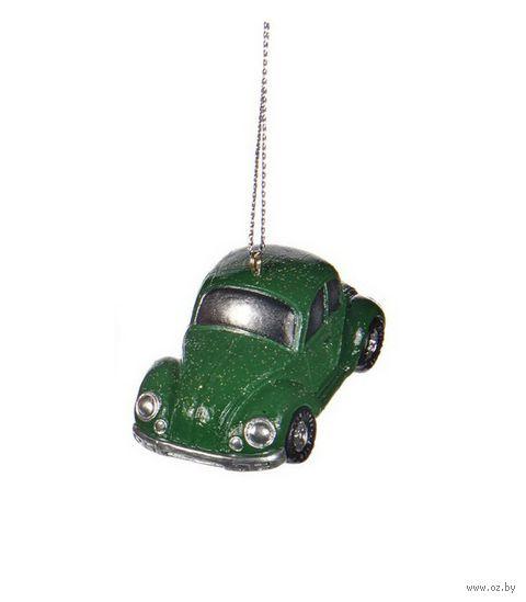 """Ёлочная игрушка """"Машинка"""" (зелёная) — фото, картинка"""
