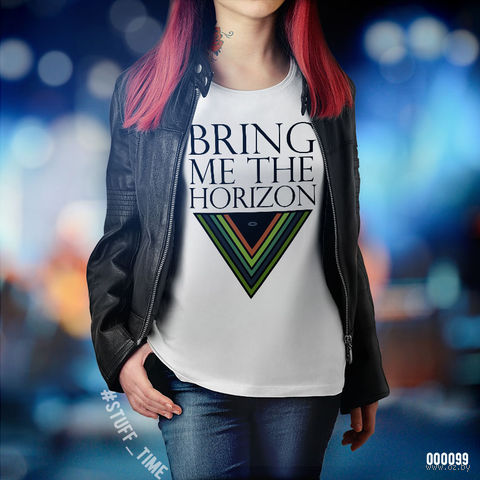"Футболка женская ""Bring Me the Horizon"" XL (099)"