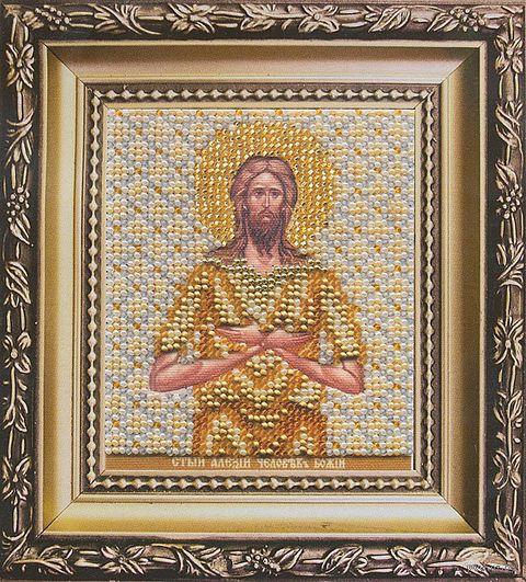 """Вышивка бисером """"Икона святого Алексия, человека Божьего"""""""