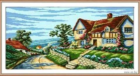 """Алмазная вышивка-мозаика """"Дом у моря"""" (550x420 мм) — фото, картинка"""