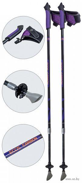 Палки для скандинавской ходьбы двухсекционные AQD-B019В (85-135 см; фиолетовые) — фото, картинка