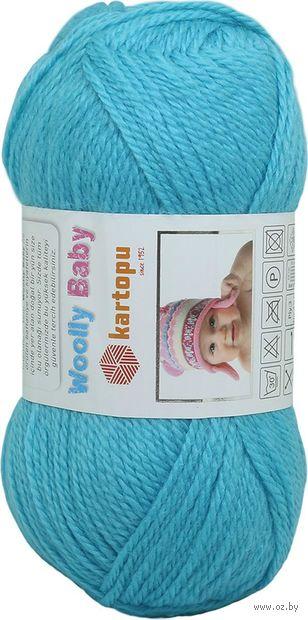 "Пряжа ""KARTOPU. Woolly Baby №K515"" (50 г; 148 м; ярко-голубой) — фото, картинка"