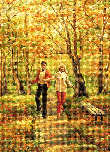 "Алмазная вышивка-мозаика ""Прогулка в парке"" (360х260 мм) — фото, картинка"