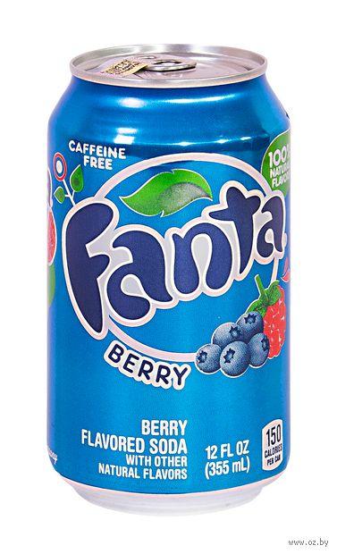 """Напиток газированный """"Fanta. Ягоды"""" (355 мл) — фото, картинка"""