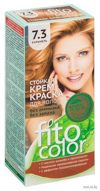 """Крем-краска для волос """"FitoСolor"""" (тон: 7.3, карамель) — фото, картинка"""