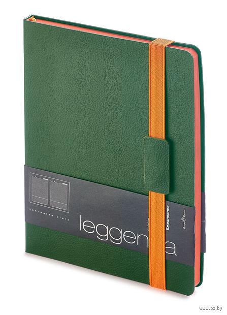 """Ежедневник недатированный """"Leggenda"""" (B5; зеленый) — фото, картинка"""