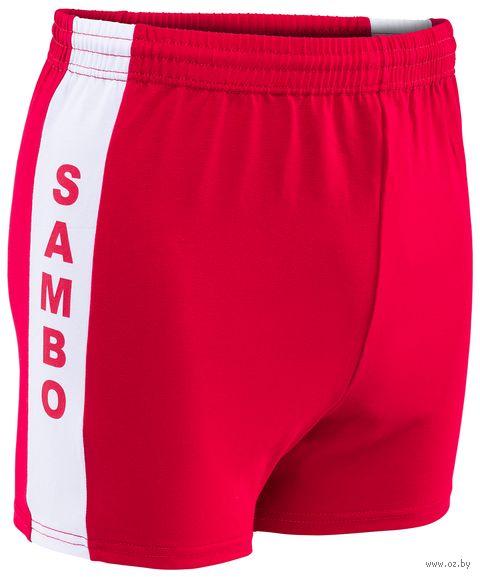 Шорты для самбо (р. 34; красные) — фото, картинка