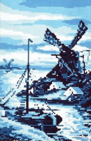 """Алмазная вышивка-мозаика """"В сумерках"""" (230х350 мм) — фото, картинка"""