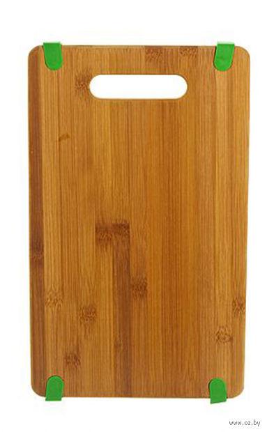 Доска разделочная бамбуковая (38х23х1,6 см; арт. 4610013)