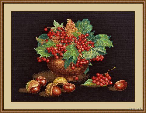 """Вышивка крестом """"Осенний блюз"""" (350х260 мм) — фото, картинка"""