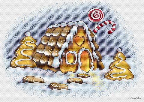 "Вышивка крестом ""Пряничная зима"" (230х160 мм) — фото, картинка"