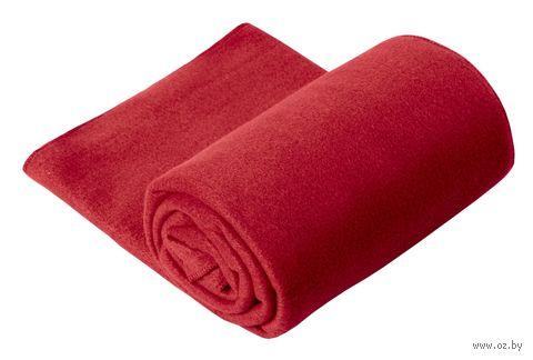 Плед (130х150 см; красный) — фото, картинка