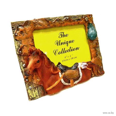 "Рамка для фото пластмассовая ""Лошадь"" (19х15 см; арт. LE00214S)"