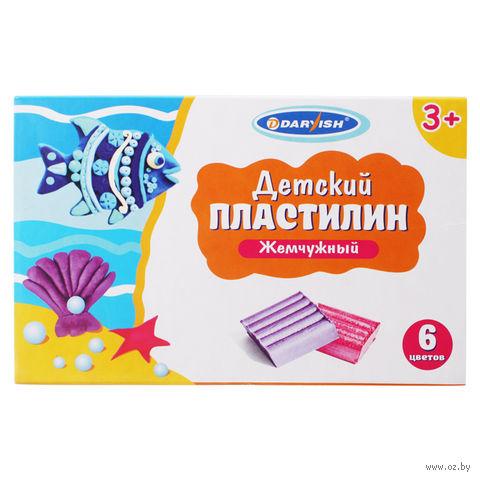 """Пластилин """"жемчужный"""" детский (6 цветов)"""
