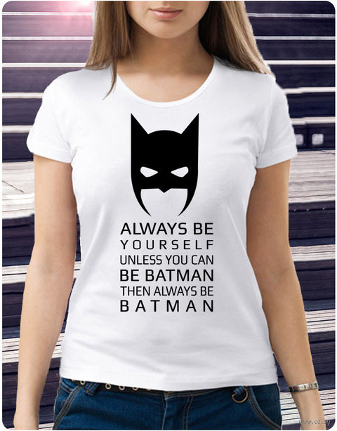 "Футболка женская ""Бэтмен"" (размер 50; арт. 1) — фото, картинка"