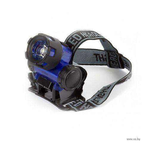 Фонарь налобный Smartbuy 1 Вт (синий) — фото, картинка
