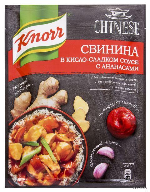"""Приправа для свинины """"Knorr. В кисло-сладком соусе с ананасами"""" (30 г) — фото, картинка"""